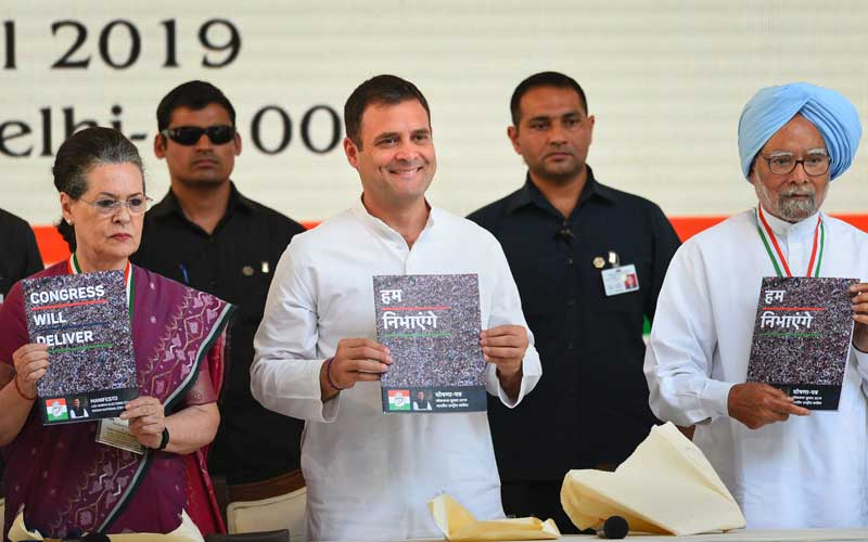 What are the Congress party's 2019 Lok Sabha Election promises according to their manifesto? Take this quiz to find out
